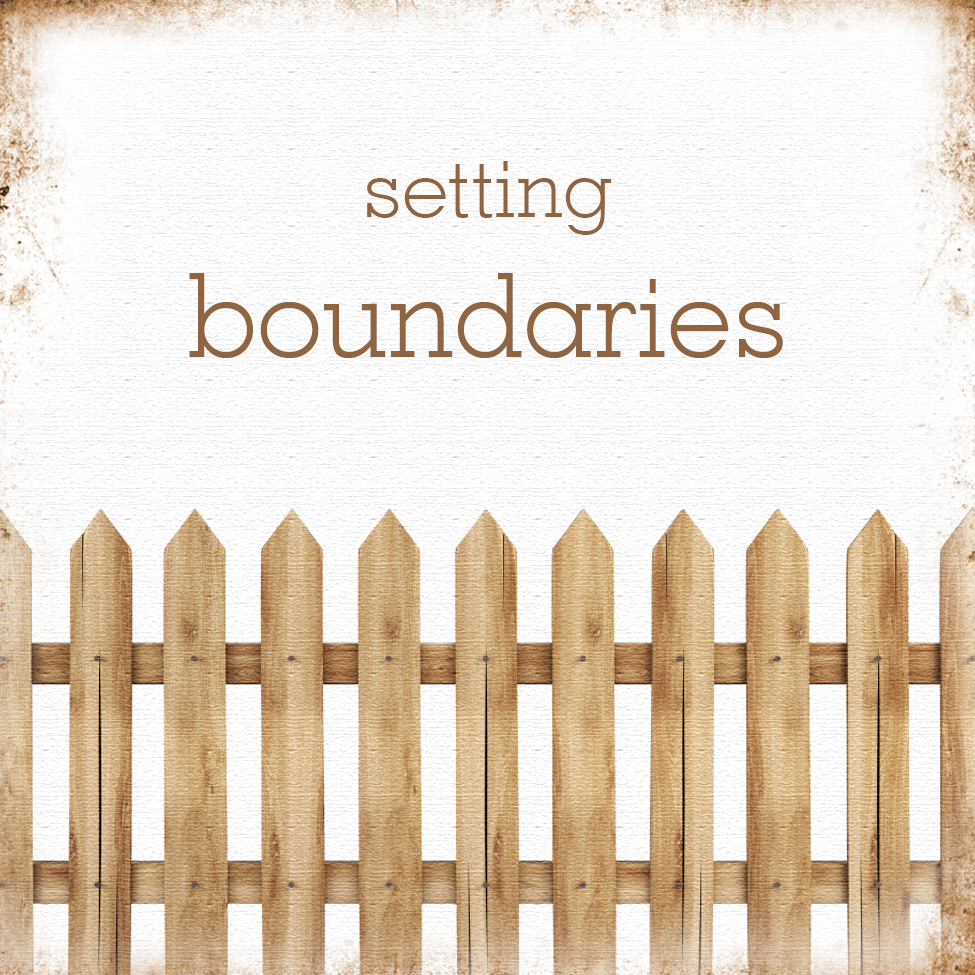 setting boundries