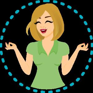 logo meditating