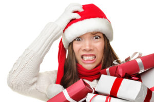 bigstock-christmas-stress-busy-woman-23861735
