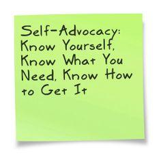 self-advocay